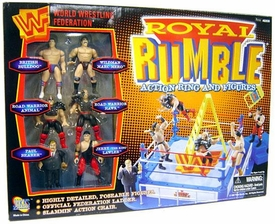 WWF Jakks Pacific Royal Rumble Action Ring with 6 Mini Figures Very Rare!