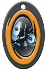 Portal 2 Rubber Key Cap Orange Portal Bots