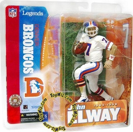 McFarlane Toys NFL Sports Picks Legends Series 1 Action Figure John Elway (Denver Broncos) White Jersey Variant