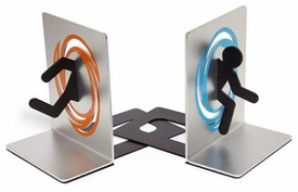 Portal Aperture Laboratories Bookends