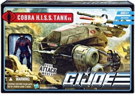 GI Joe Pursuit of Cobra 3 3/4 Inch Bravo Vehicle H.I.S.S. Tank with H.I.S.S. Driver Action Figure