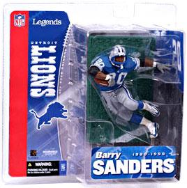 McFarlane Toys NFL Sports Picks Legends Series 1 Action Figure Barry Sanders (Detroit Lions) Blue Jersey