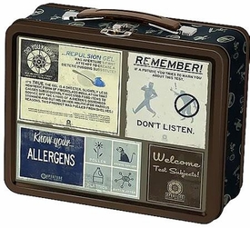 Portal 2 Lunchbox Aperture Labratories Warnings