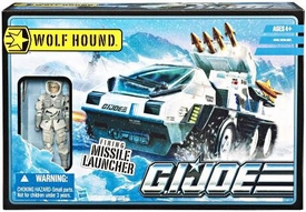 GI Joe Pursuit of Cobra 3 3/4 Inch Bravo Vehicle Wolf Hound with Whiteout Action Figure