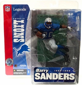 McFarlane Toys NFL Sports Picks Legends Series 1 Action Figure Barry Sanders (Detroit Lions) Blue Jersey Retro Variant