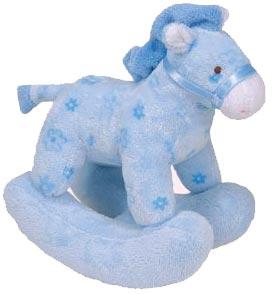 Ty Baby Soft Plush Pretty Pony Blue