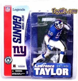 McFarlane Toys NFL Sports Picks Legends Series 1 Action Figure Lawrence Taylor (New York Giants) Blue Jersey