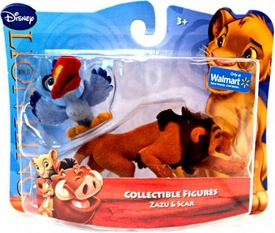 Disney Lion King Exclusive Flocked Mini Figure 2-Pack Zazu & Scar