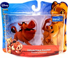 Disney Lion King Exclusive Flocked Mini Figure 2-Pack Timon & Pumbaa