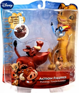 Disney Lion King Exclusive Action Figure Pumbaa, Timon & Zazu