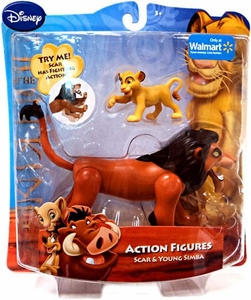 Disney Lion King Exclusive Action Figure Scar & Young Simba