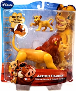 Disney Lion King Exclusive Action Figure Young Simba & Adult Simba