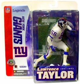 McFarlane Toys NFL Sports Picks Legends Series 1 Action Figure Lawrence Taylor (New York Giants) White Jersey Variant