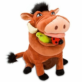 Disney Lion King Exclusive 14 Inch Deluxe Plush Figure Pumbaa with Grub & Bug