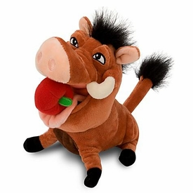 Disney Lion King Exclusive 8 Inch Plush Figure Pumba with Apple