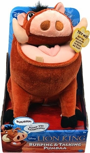 Disney Lion King Exclusive Plush Figure Burping & Talking Pumbaa