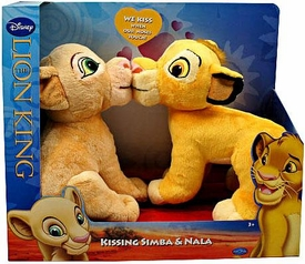 Disney Lion King Exclusive Plush Figure 2-Pack Kissing Simba & Nala