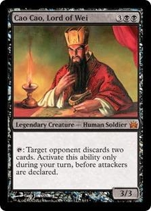 Magic: The Gathering From the Vault: Legends Single Card Black Mythic Rare #1 Cao Cao, Lord of Wei