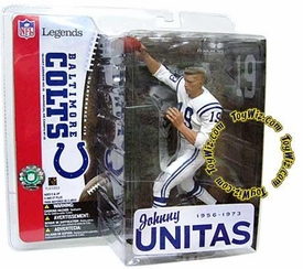 McFarlane Toys NFL Sports Picks Legends Series 1 Action Figure Johnny Unitas (Baltimore Colts) White Jersey No Helmet Variant