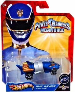 Hot Wheels Power Rangers Megaforce 1:50 Die Cast Car Blue Ranger Shark Zord