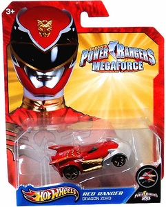 Hot Wheels Power Rangers Megaforce 1:50 Die Cast Car Red Ranger Dragon Zord