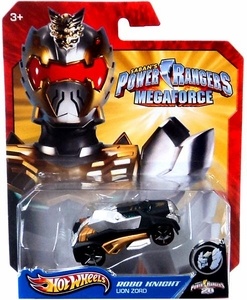 Hot Wheels Power Rangers Megaforce 1:50 Die Cast Car Robo Knight Lion Zord