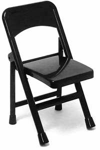 WWE Wrestling Loose Action Figure Accessory Black Folding Chair