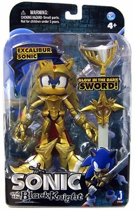 Sonic & Black Knight 5 Inch Metallic Action Figure Excalibur Sonic
