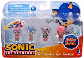 Sonic Flocked Micro 1 Inch Figure 4-Pack [Sonic, Shadow, Amy & Knuckles] BLOWOUT SALE!