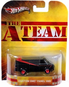 Hot Wheels Retro A-Team 1:55 Die Cast Car Custom GMC Panel Van