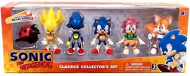 Sonic Exclusive 2 Inch Mini Figure 6-Pack Classic Collector's Set [Tails, Moto Bug, Super Sonic, Sonic, Amy & Metal Sonic]