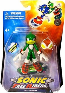 Sonic Free Riders 3.5 Inch Action Figure Jet The Hawk