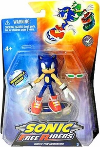Sonic Free Riders 3.5 Inch Action Figure Sonic The Hedgehog