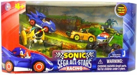Sonic Sega All-Stars Racing Box Set of 4 Racer Vehicles with 1.5 Inch Figures [Sonic, Tails, Eggman & Beat]
