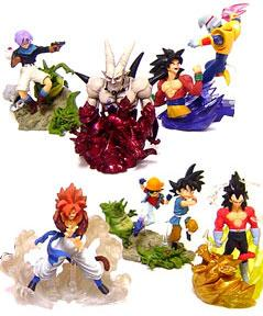 Dragon Ball GT BanPresto Set of 6 Battle Scenes 3.5 Inch Mini PVC Figures