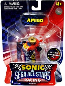 Sonic Sega All-Stars Racing Exclusive Vehicle with 1.5 Inch Figure Amigo