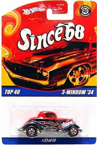 Hot Wheels Mattel Die-Cast Car Since '68 Top 40 3-Windowed '34 [#33 of 40]