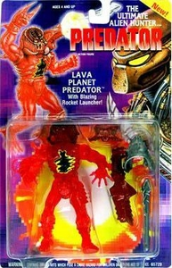 Predator Kenner Vintage 1994 Action Figure Lava Planet Predator [with Blazing Rocket Launcher!]