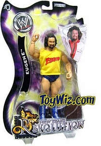 WWE Jakks Pacific Wrestling New Year's Revolution Pay Per View Action Figure Eugene