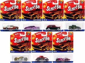 Hot Wheels Mattel Set of 7 Since '68 Top 40 Die Cast Cars
