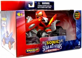 Sonic Sega All-Stars Racing Vehicle with 3.5 Inch Figure Knuckles with Land Breaker ATV