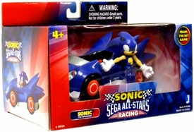 Sonic Sega All-Stars Racing Vehicle with 3.5 Inch Figure Sonic with Speed Star Car
