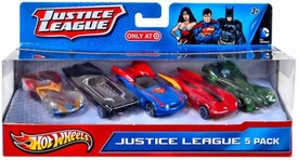 Hot Wheels Exclusive 1:50 Die Cast Car 5-Pack Justice League
