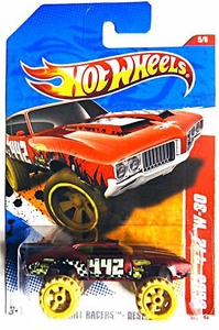 Hot Wheels Mattel Die-Cast Car 2011 Olds 442 W-30 Thrill Racers Desert  #185