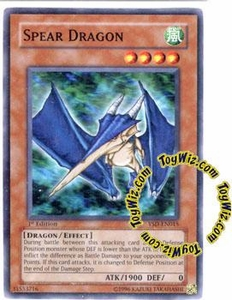 YuGiOh GX Starter Deck 2006 Single Card Common YSD-EN015 Spear Dragon