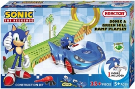 Sonic The Hedgehog Erector Construction Set #5610 Sonic & Green Hill Ramp Damaged Package, Mint Contents!