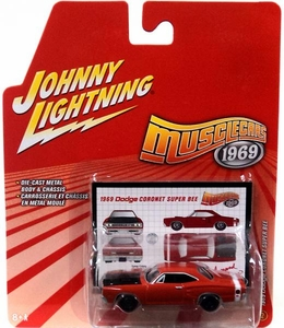 Johnny Lightning 1:64 Scale Diecast Muscle Cars 1969 #2 1969 Dodge Coronet Super Bee