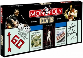 Monopoly Board Game Set Elvis Collector's Edition