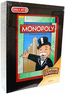 Parker Brothers Vintage Game Collection Exclusive Wooden Book Box Monopoly [Version 3]