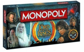 Monopoly Board Game Set Lord of The Rings Trilogy Edition